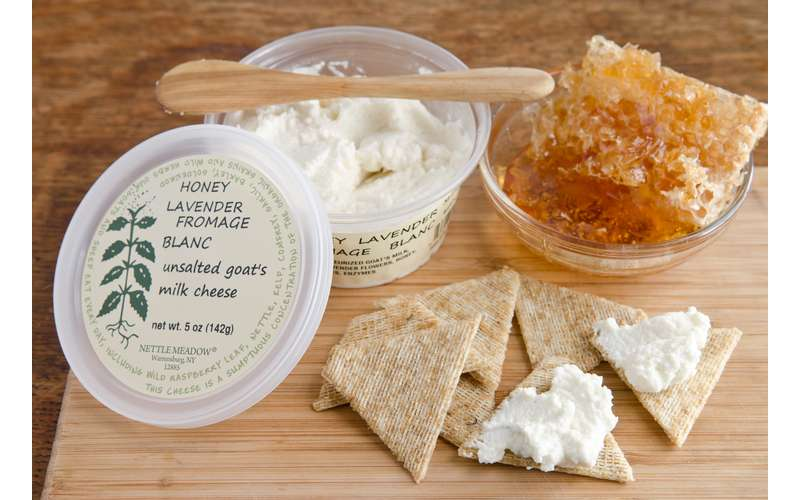 cheese spread and crackers
