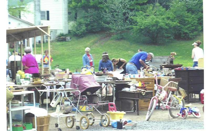 people at a garage sale
