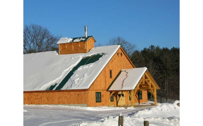 exterior of a maple sugar house