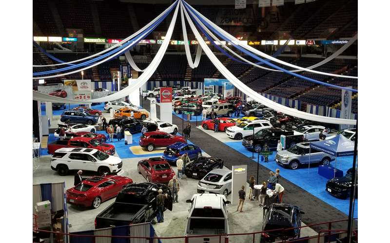 cars at an auto show
