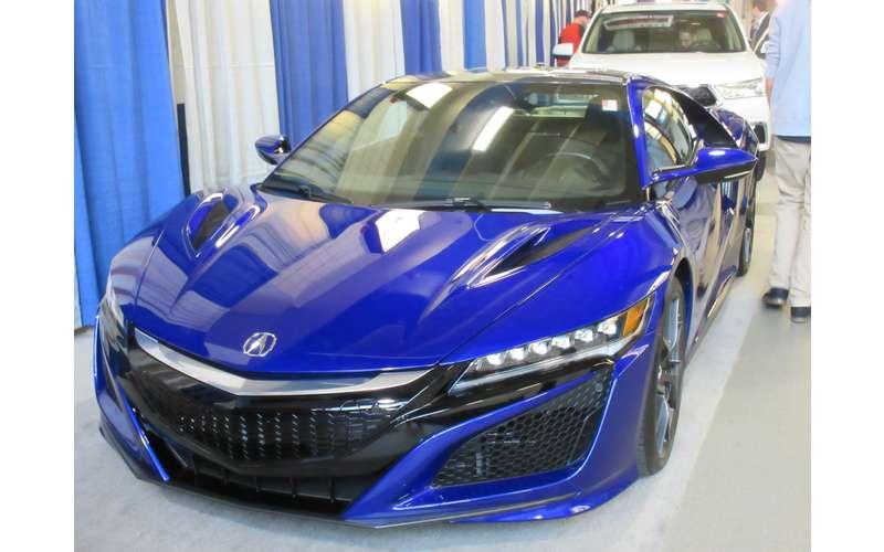 a shiny blue car
