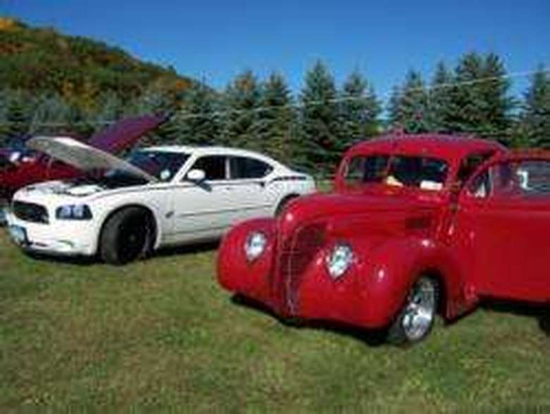 cars on a lawn
