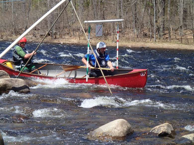 paddlers in the whitewater derby