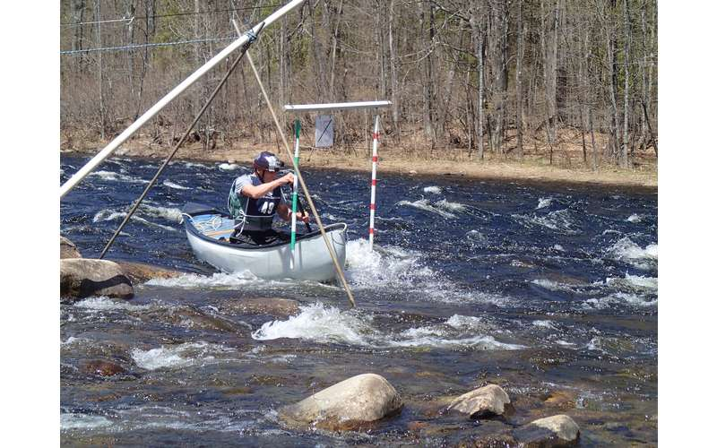 paddler in the whitewater derby
