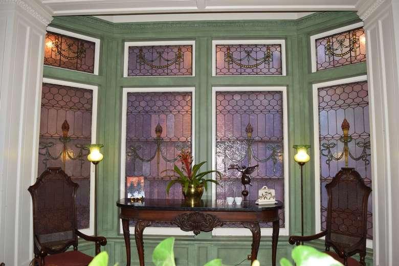 inside a dining area