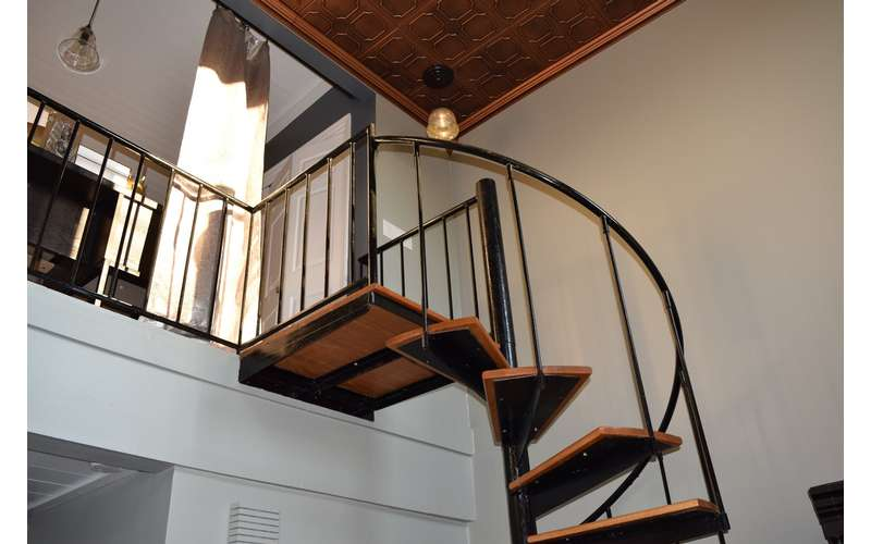 start of a sprial staircase