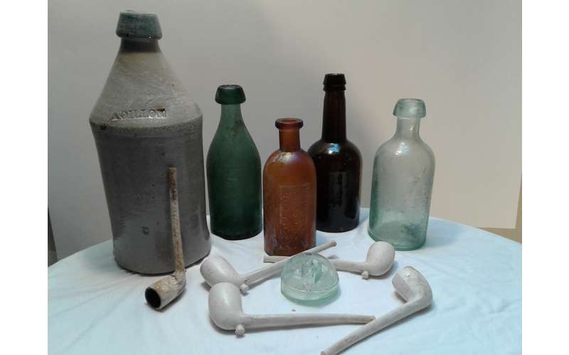 Photo of glass bottles