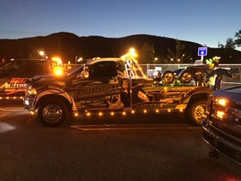truck lit up