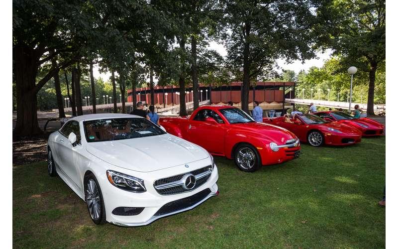 cars at a car show