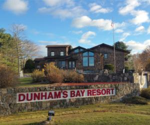 dunhams bay resort and sign