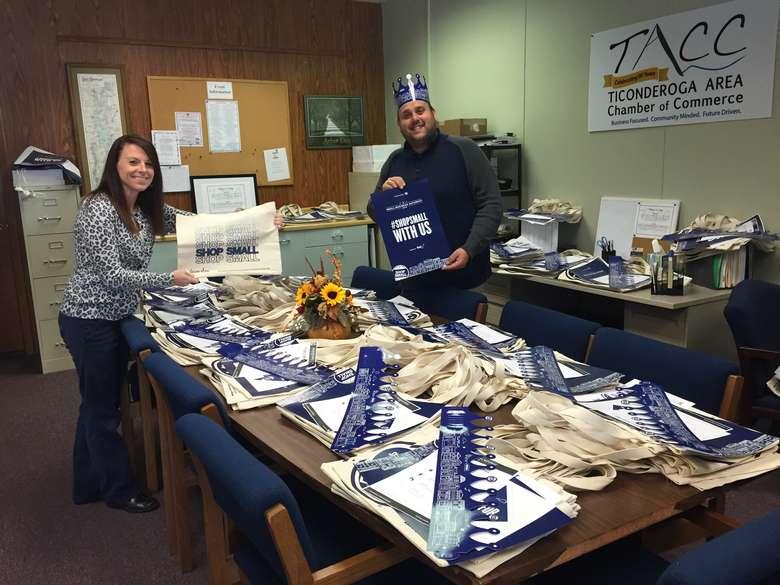 ticonderoga staff preparing for small business saturday