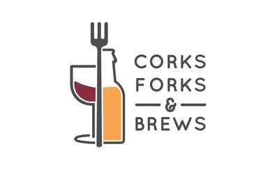 corks forks and brews logo