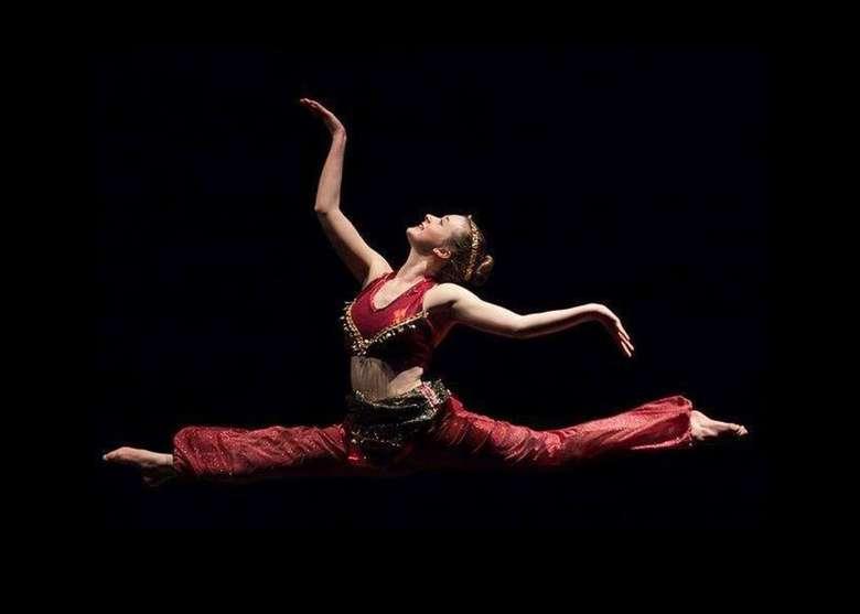 ballet dancer in the air