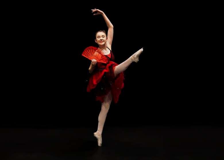 one ballet dancer
