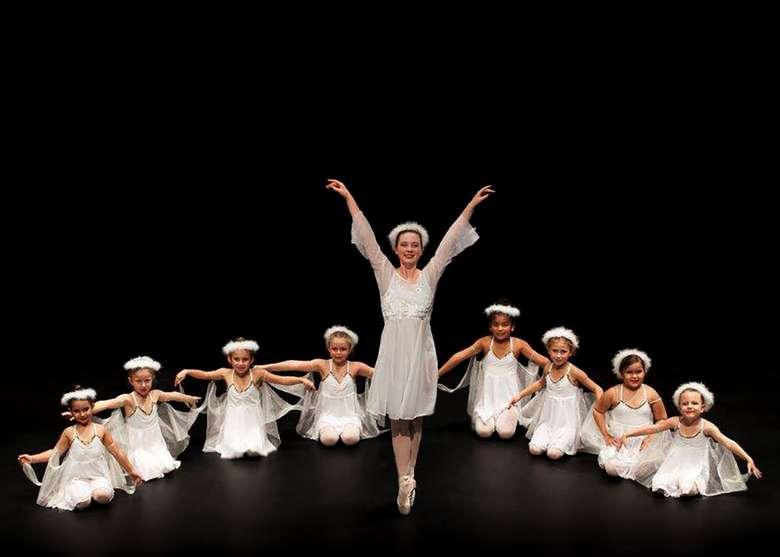 large group of ballet dancers