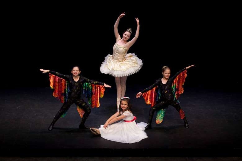 three ballet dancers