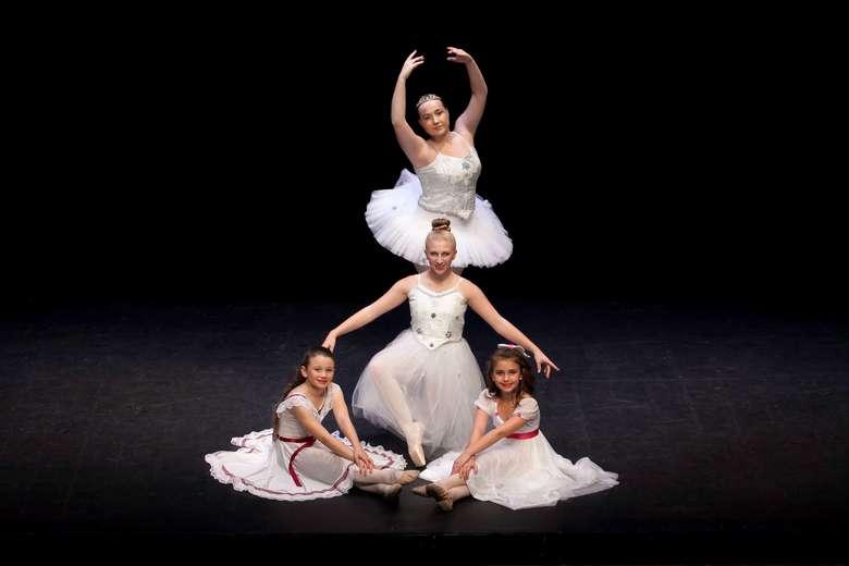 four ballet dancers