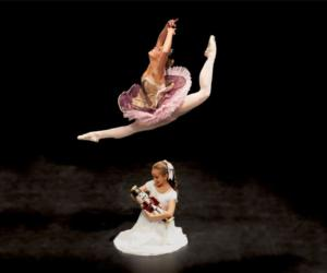 one dancer leaping over another
