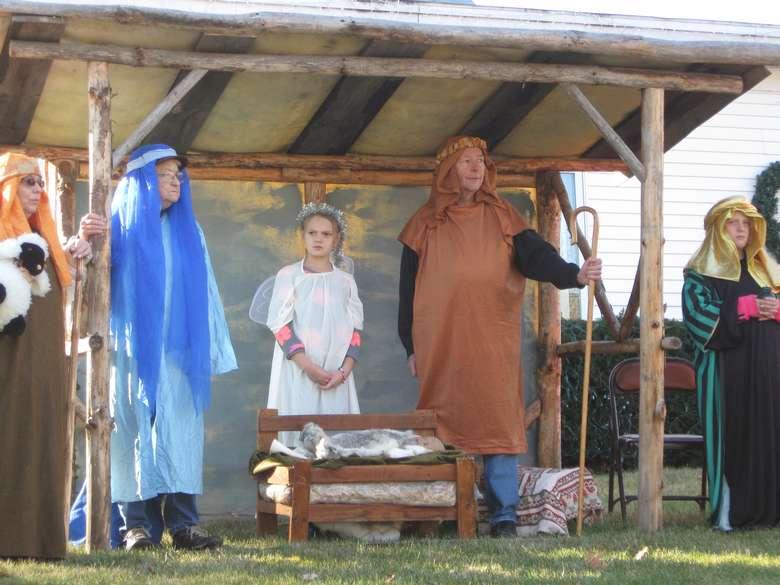 a living nativity setup
