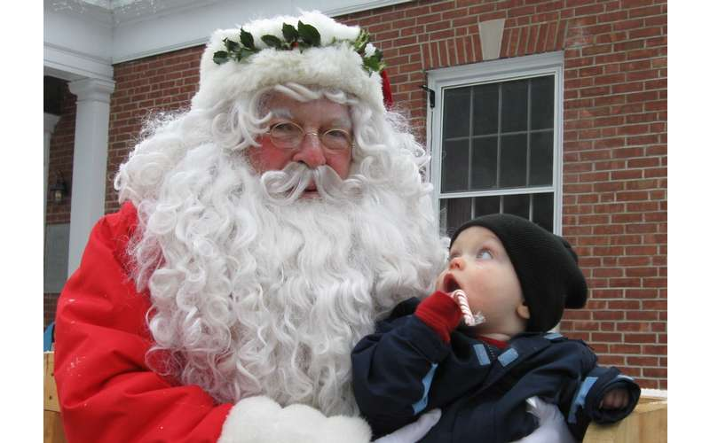 santa claus and a young boy
