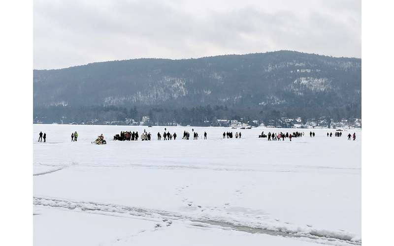 people on the ice