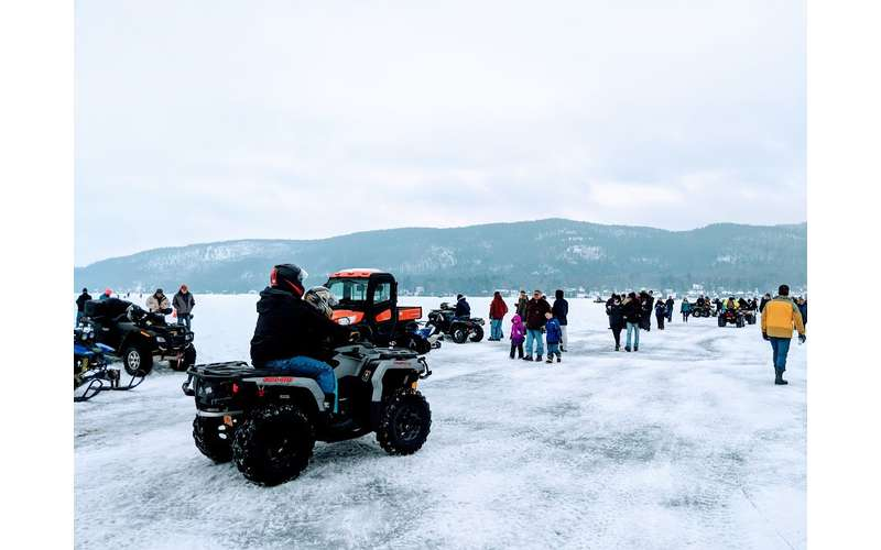 ATV on the ice