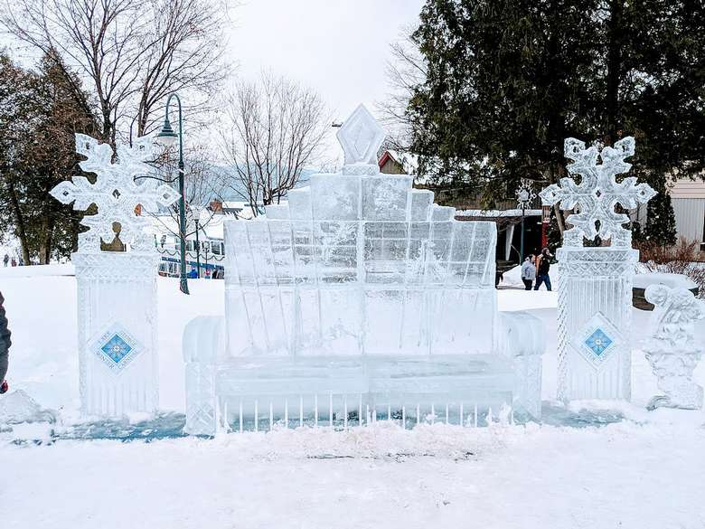 ice bench sculpture