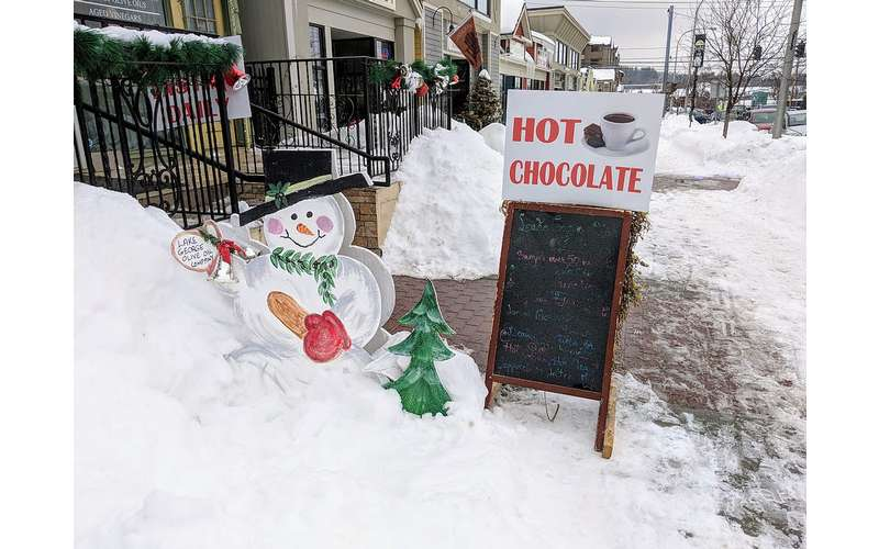 sign for hot chocolate