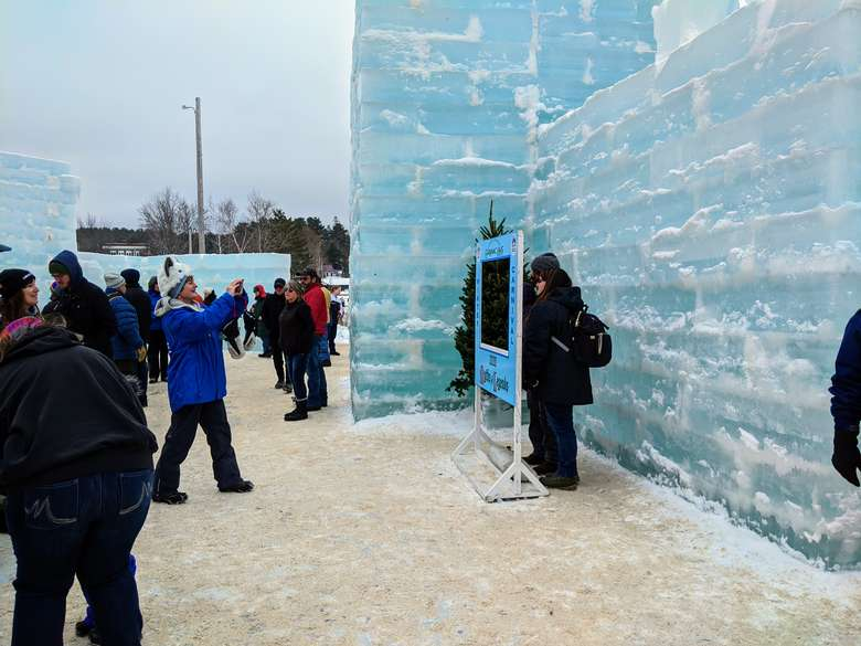 people taking pictures at Ice Palace