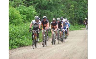 line of bike riders