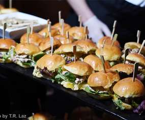 tray of sliders