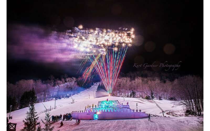 fireworks at old forge winter carnival