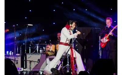 elvis impersonator performing on stage