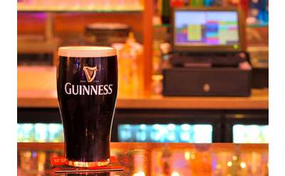 guinness on counter
