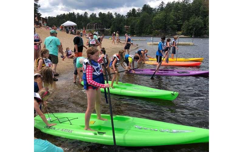 kids on paddles