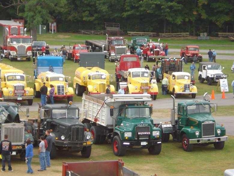 trucks on display at show