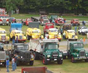 trucks on display at show