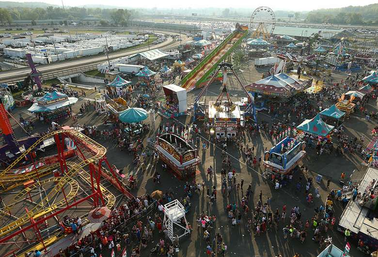 aerial view of the fair