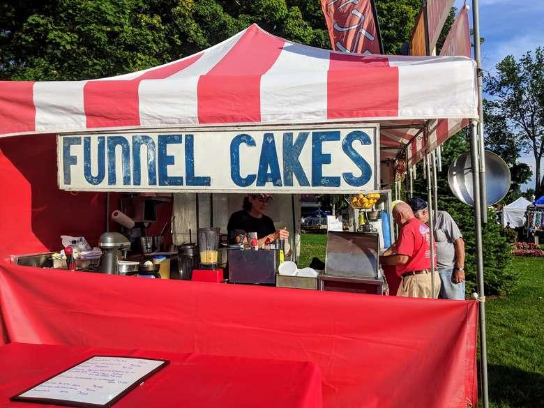 funnel cakes vendor tent