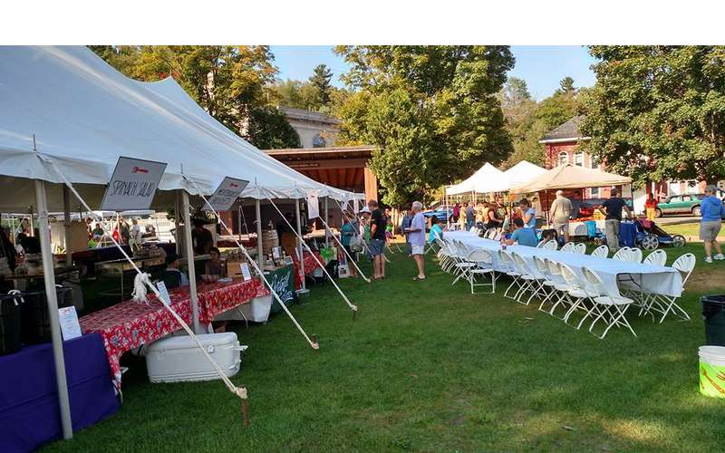 farm 2 fork festival tents and tables
