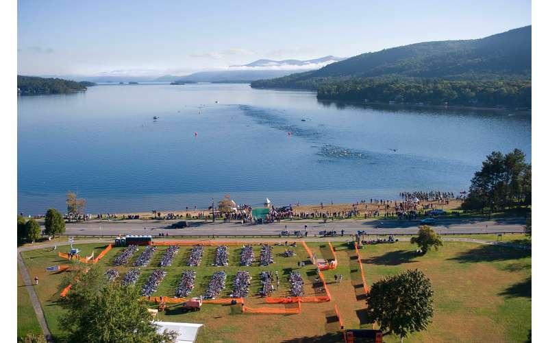 aerial view Lake George