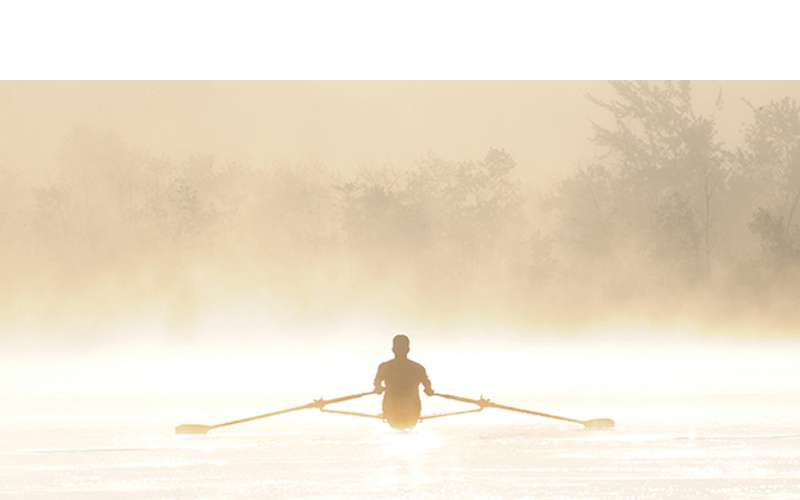 Person rowing a boat