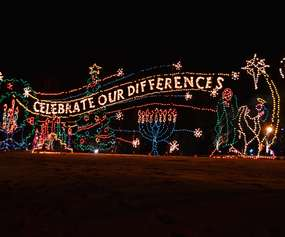 lighted display at capital holiday lights in the park