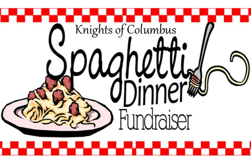 Promotional Banner for Knights of Columbus Annual Spaghetti Dinner