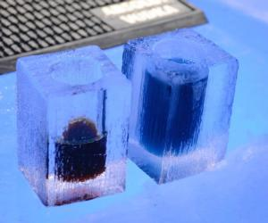 two ice bar drinks