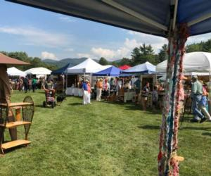 vendor booths at festival