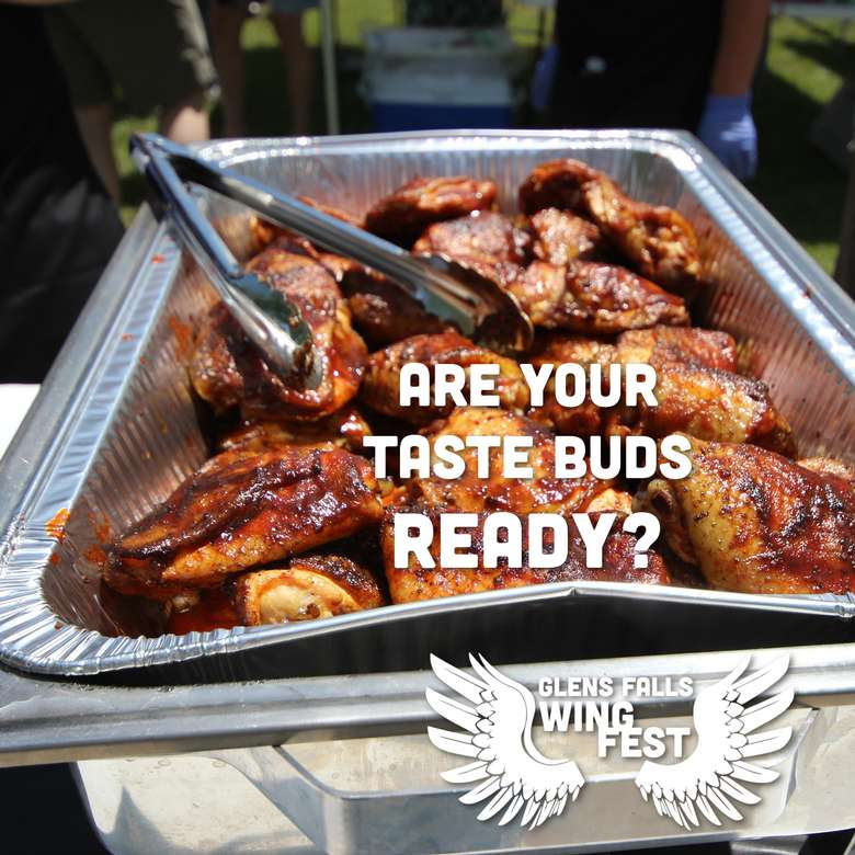 wings with text are your taste buds ready