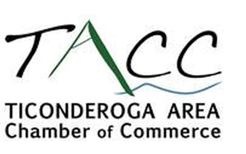 the logo for the Ticonderoga Area Chamber of Commerce