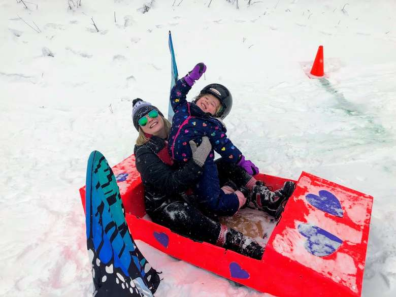 cardboard sledding