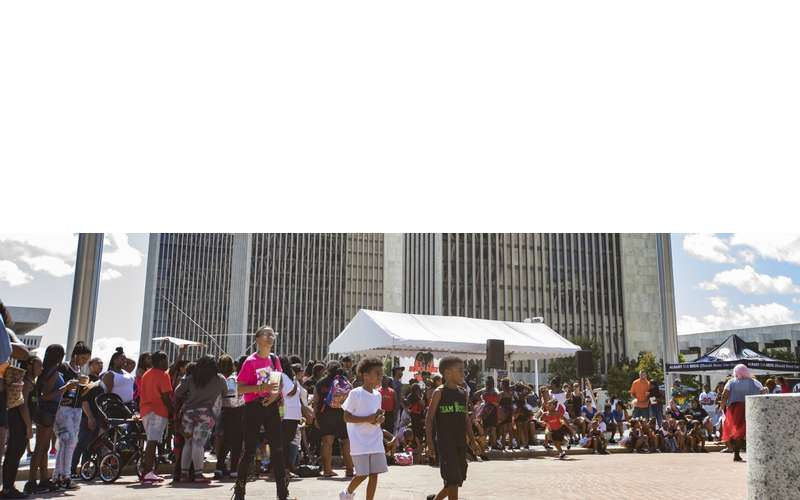 crowd at black arts and cultural festival